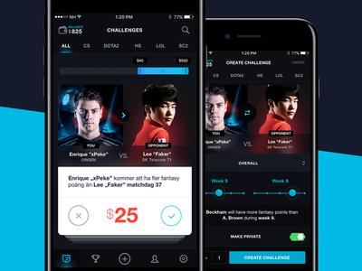 Flwless eSport App #2 tinder card challenge samborek game sport duel counterstrike esport bet flwless