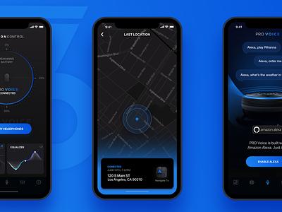 MotionControl Redesign amazon alexa map location equalizer headphones music redesign 66audio motioncontrol