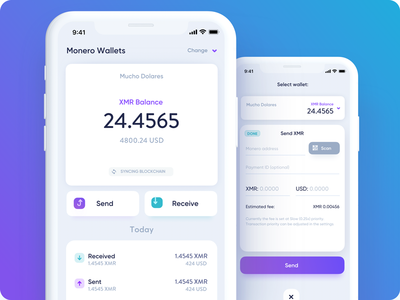 CakeWallet: Monero Wallet for iOS invest fintech exchange xmr light coin ico bitcoin wallet monero app cryptocurrency crypto