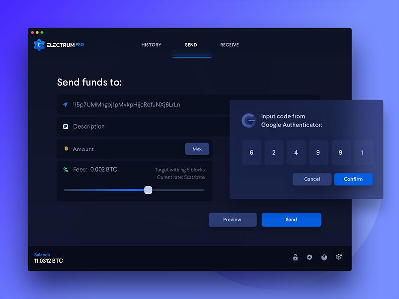Electrum Desktop Wallet - Send BTC coin segwit ico btc blockchain crypto cryptocurrency landing wallet bitcoin electrum