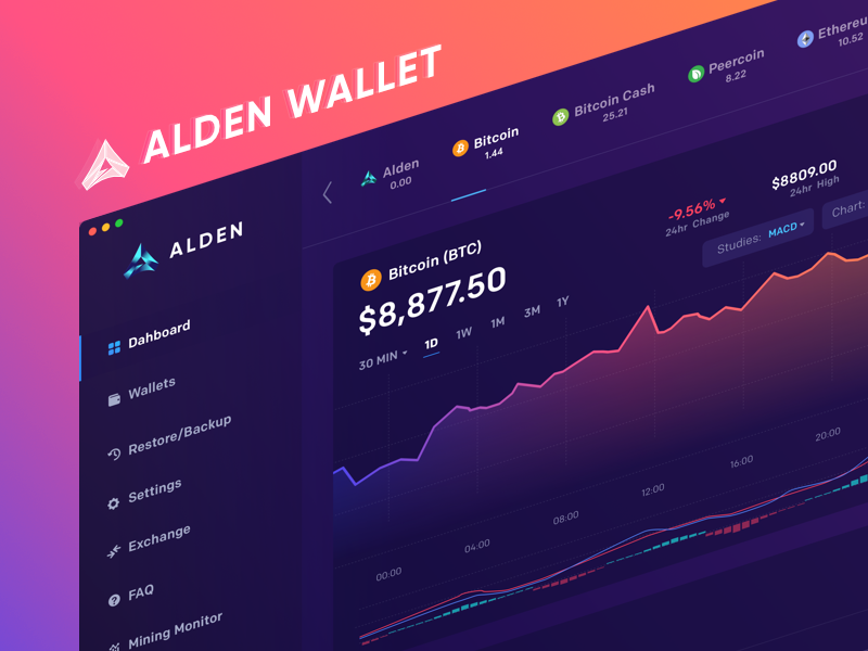 Alden Wallet: Dashboard pool mining maise blockchain crypto cryptocurrency landing desktop wallet bitcoin alden