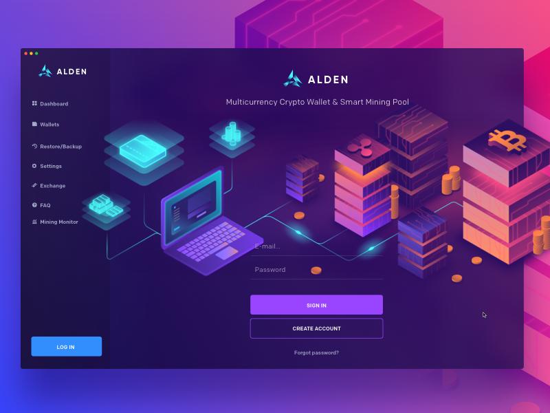Alden Wallet: Login pool mining maise blockchain crypto cryptocurrency landing desktop wallet bitcoin alden
