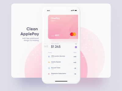 ApplePay  Redesigned invest dashboard banking crypto credit money transaction finance fintech exchange bitcoin visa pay payment bank card wallet figma apple apple pay