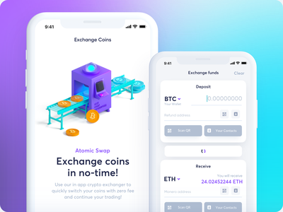 CakeWallet - Exchange maise xmr monero wallet visa transaction revolut payment money fintech figma finance exchange crypto credit card bitcoin banking bank pay