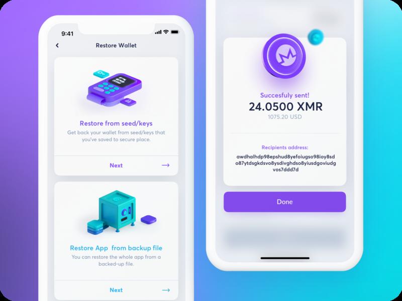 CakeWallet: Restore & Send xmr wallet visa transaction payment pay money monero maise fintech a finance figm exchange crypto credit card bitcoin banking bank
