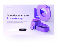Crypto 3D Landing Page