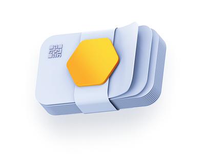 Nimiq 3D Icons crypto coin blockchain fintech 3d illustration icon hexagon clean bitcoin payment maise wallet money transaction donation vote