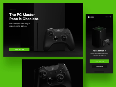 XBOX Series X microsoft shop controller game pad model animation product page masterace pc design industrial product design console play redshift 3d render game gaming xbox