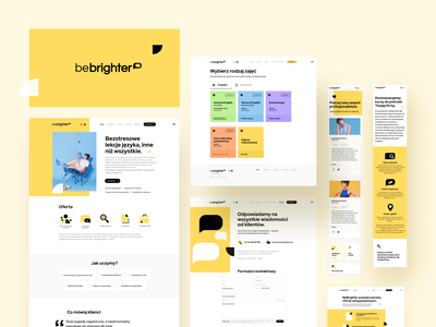 Be Brighter Language School app web design study learn english courses education lecture maise landing logo site school language