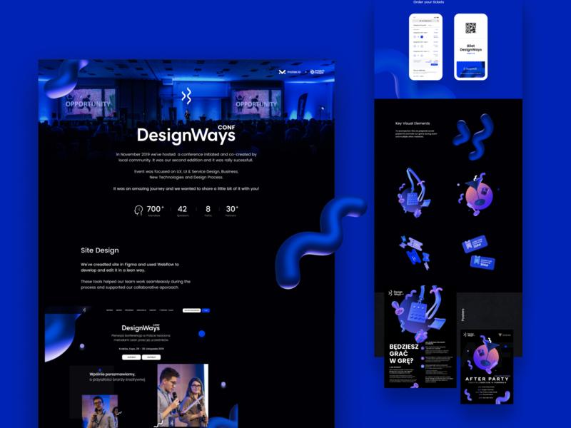 DesignWays Conf event key visual finance marketing tickets speaker ui mobile rendern website landing page community maise design conference designways