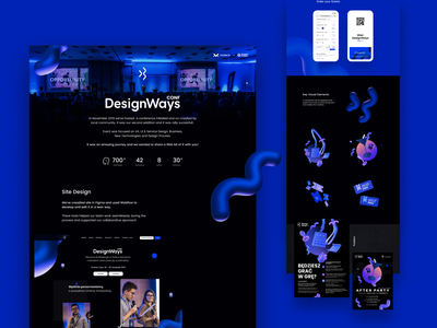 DesignWays Conf event key visual finance marketing tickets speaker ui mobile rendern website landing page community maise design conference designways