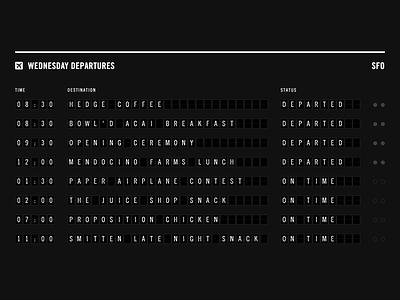 Plaid Am Departures airport plaiderdays schedule solari