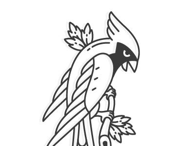 Cardinal Tattoo cardinal bird tattoo line illustration nature leaf branch animal