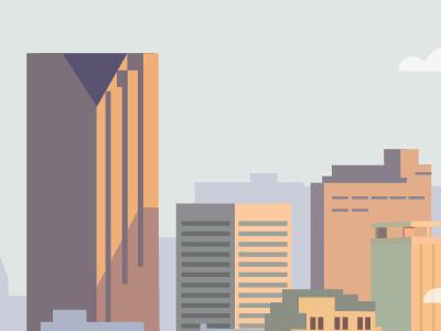 City scape city building cloud windows illustration flat