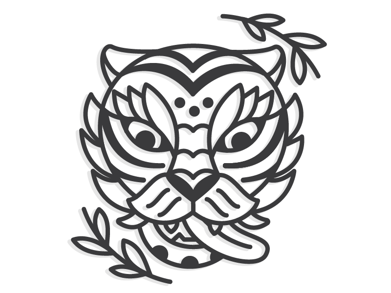 traditional korean tiger by audrey axt dribbble. Black Bedroom Furniture Sets. Home Design Ideas