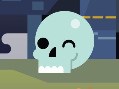 Happy Skull! shakespeare icon flat theater guthrie hamlet