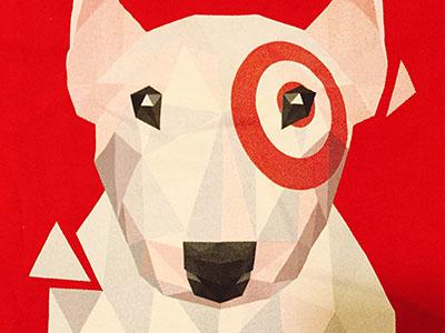 Low-poly Bullseye Tees! 3d angle shape facet poly vector dog bullseye target
