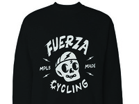 Fuerza Cycling crewneck design