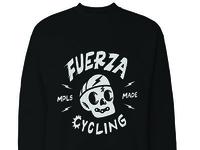 Fuerza Cycling crewneck design