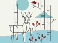 Deer dribbble...