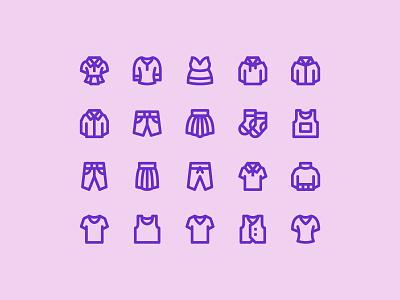 Clothing icons clothes clothing ui icons icon pack icon set icon design pixel perfect icon