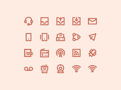 Communication icons pixel perfect web icons ui icons ui line icon set iconset icons iconography icon designer icon design app icons app