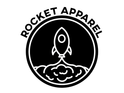 Rocket For Dribbble 2 apparel icon logo rocket debut