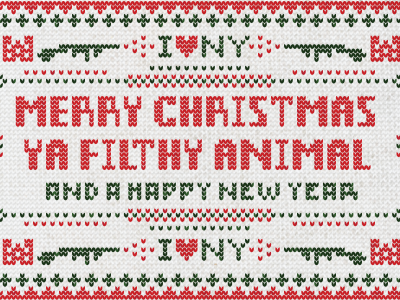 You was smoochin with my brother home alone sweater knit pattern new york merry christmas happy new year