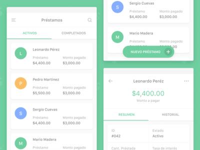Logan App cash money manage simple clean green debtors debtor loans loan design