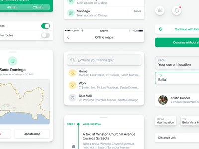 GumGum — User Interfaces Components app design polished simple components uikit styleguide maps location button inputs map driver app driver driving