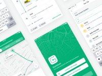 GumGum - Public Transport Made Easier mobile ui app mobile design driving services driver app driverless car travel routes public transport public transit map driver