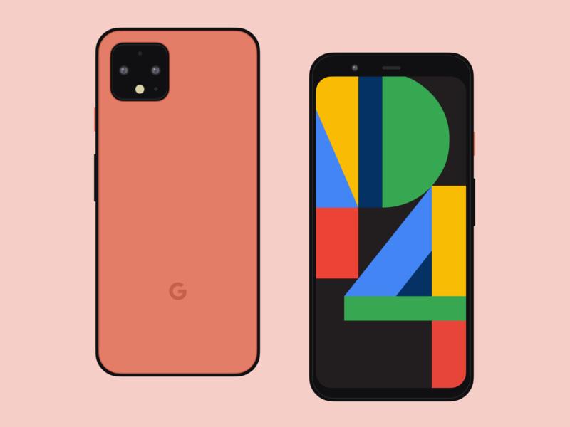 Google Pixel 4 Mockup — For Figma flat design minimal google mockups mobile pixel google pixel mockup template mockup design mockup