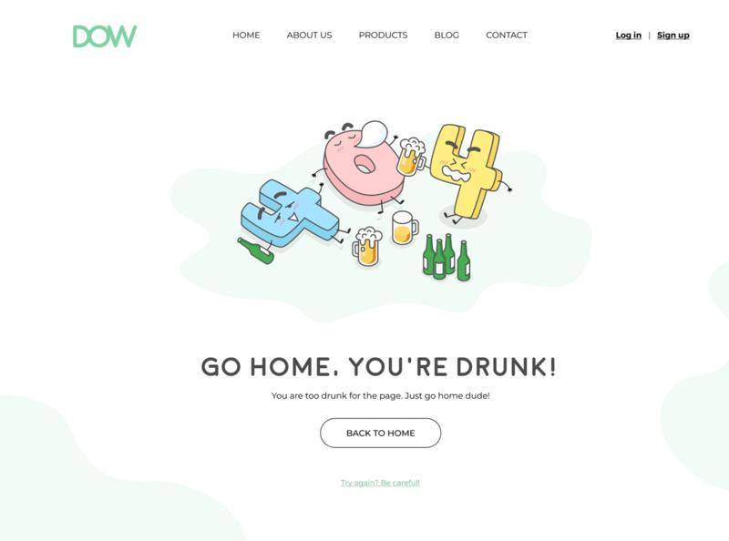 404 Page Concept ui design