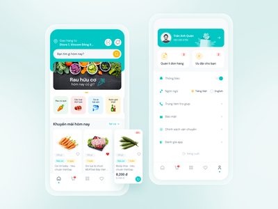 Grocery Shopping App Concept shopping supermarket grocery mobile app ui design