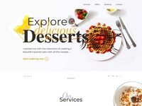 Landing page design for a bakery