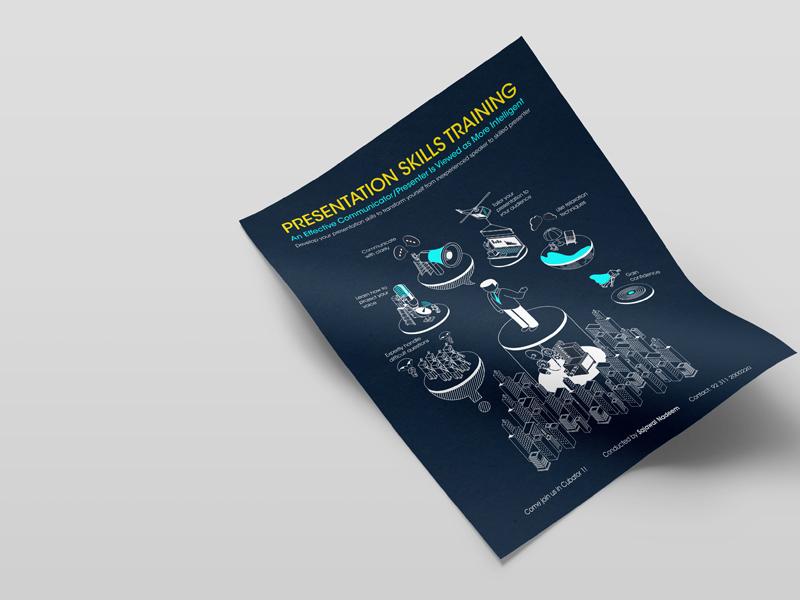 Training Brochure brochure design flat illustration line illustration illustration