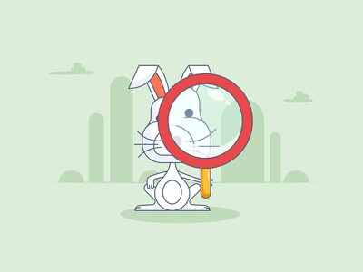 Speedy Inspections inspector inspection magnifying glass alice in wonderland rabbit