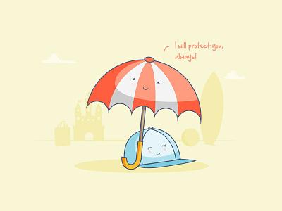 Protection!  yellow character cap beach sand umbrella harry potter snape always