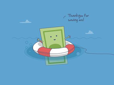 Saving Money! swimming pool river saving save drowning money