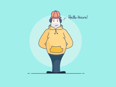Hello From The Other Side!  person cap belly character fat driver man