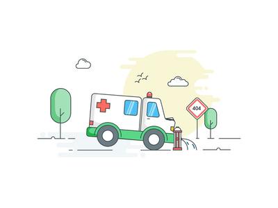 Ooops!  website error page error error 404 siren alarm patient hospital ambulance