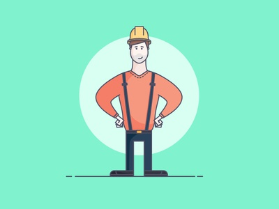 Character Design work people person smile emotions confused sad happy constructor cap man