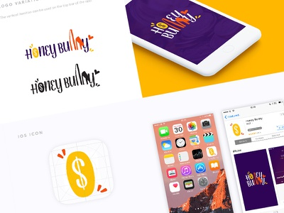 Honey Bunny App Branding logo design ios logo design brand identity designer finance app logo money rabbit logo bunny logo honey logo application icon app store product branding