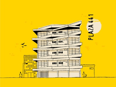 Architectural sun building birds man deztopia dental hospital plaza architecture