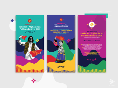 A really colorful and recent project :D identity branding festival woman colors standee man