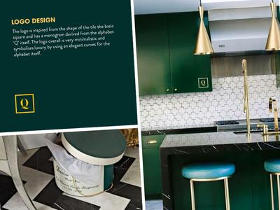 Quixotic Identity Design luxury minimal tiles typography identity branding logo design design