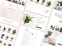 Ansel & Ivy shopping app shopify store shop plants website design website web app icon typography identity logo ux ui design branding