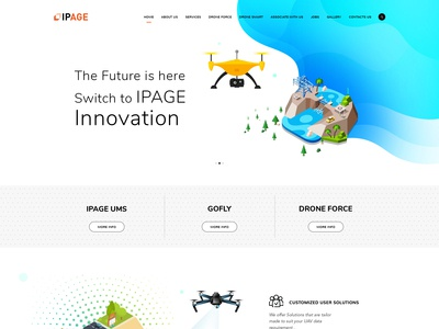 Ipage website Home page