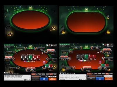 poker halloween theme halloween poker online poker ui visual design