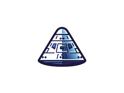 Command Module apollo design nasa space illustration vector